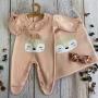 Saída de Maternidade Raposinha  Tricô Modal - Rosê