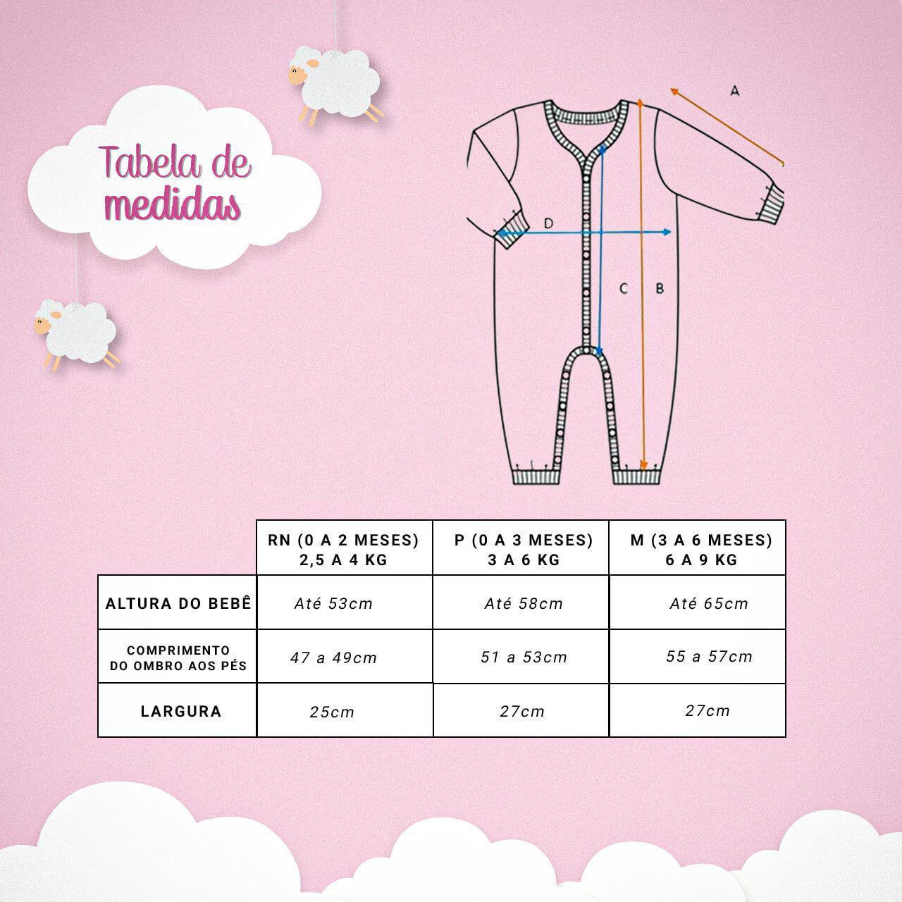 Conjunto Salopete Casaco Bordado - Rosa/Cinza