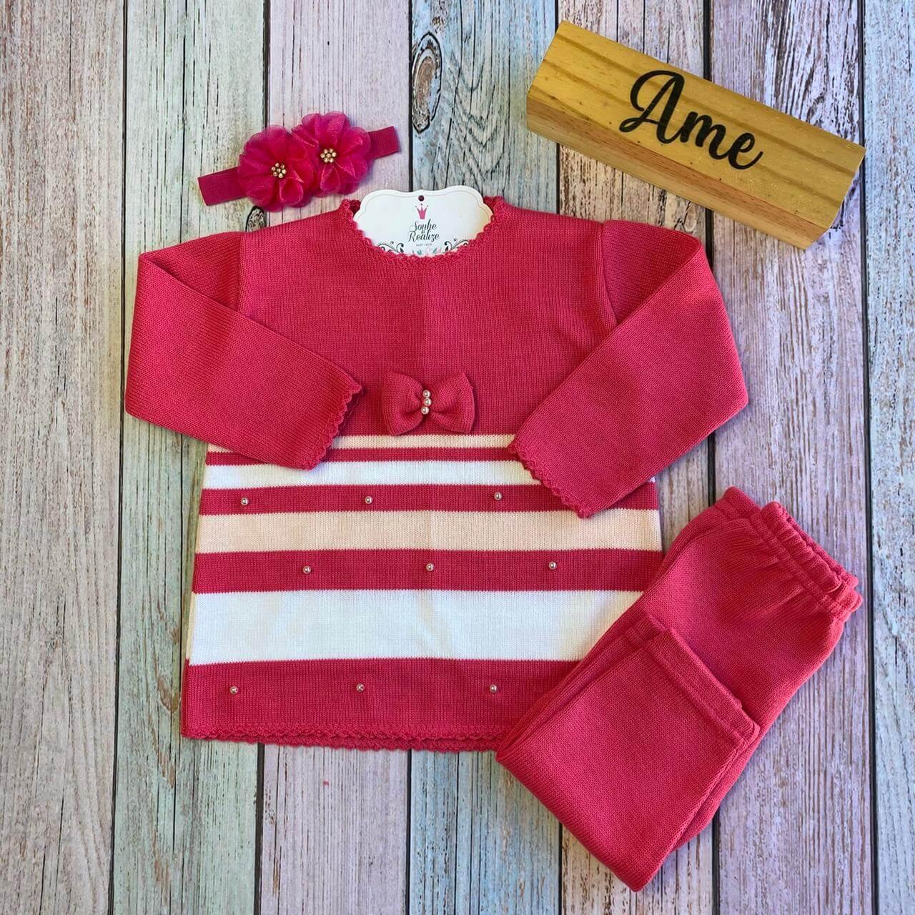 Conjunto Vestido Boneca - Pink  * Não acompanha faixinha