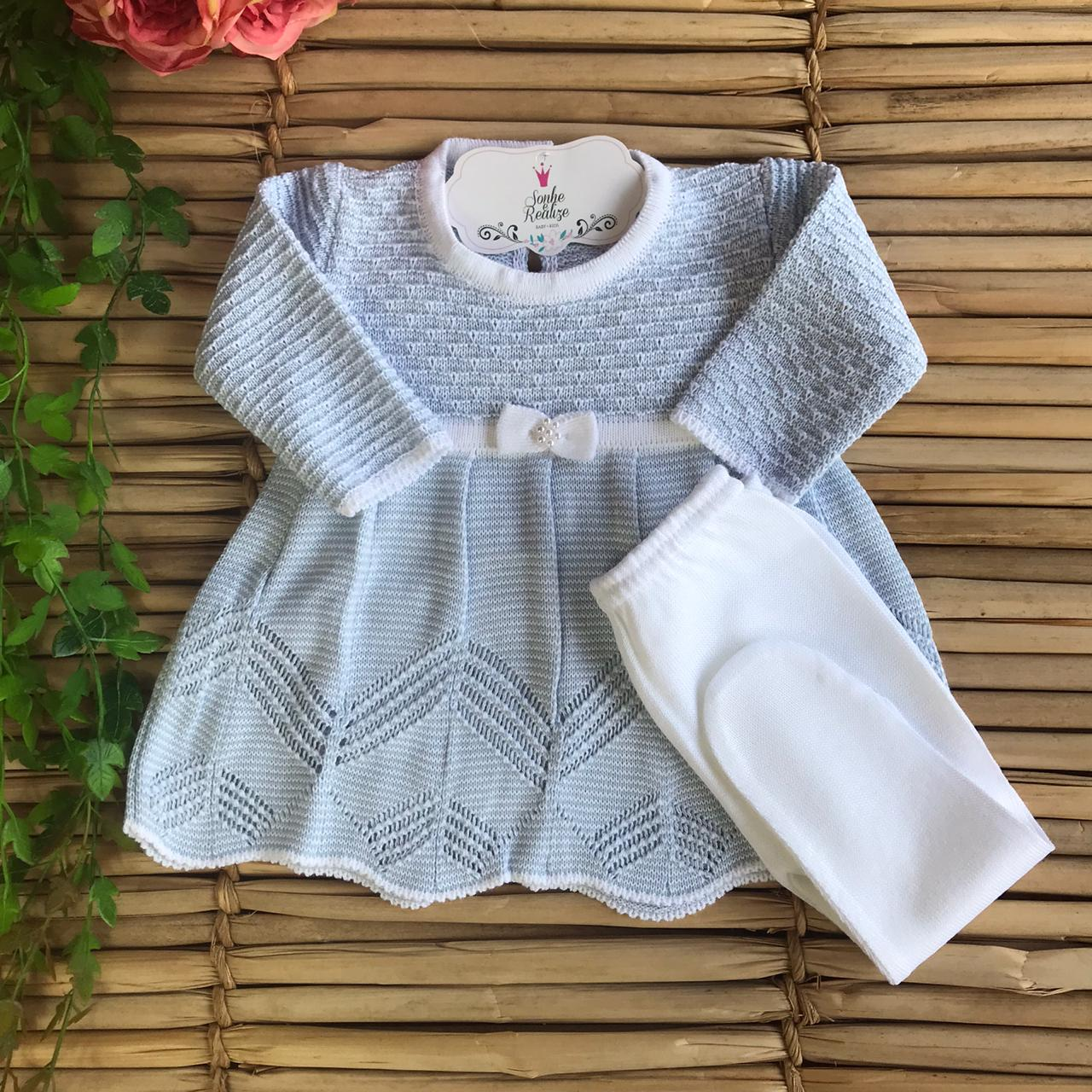 Conjunto Vestido + Calça  Angel - Azul