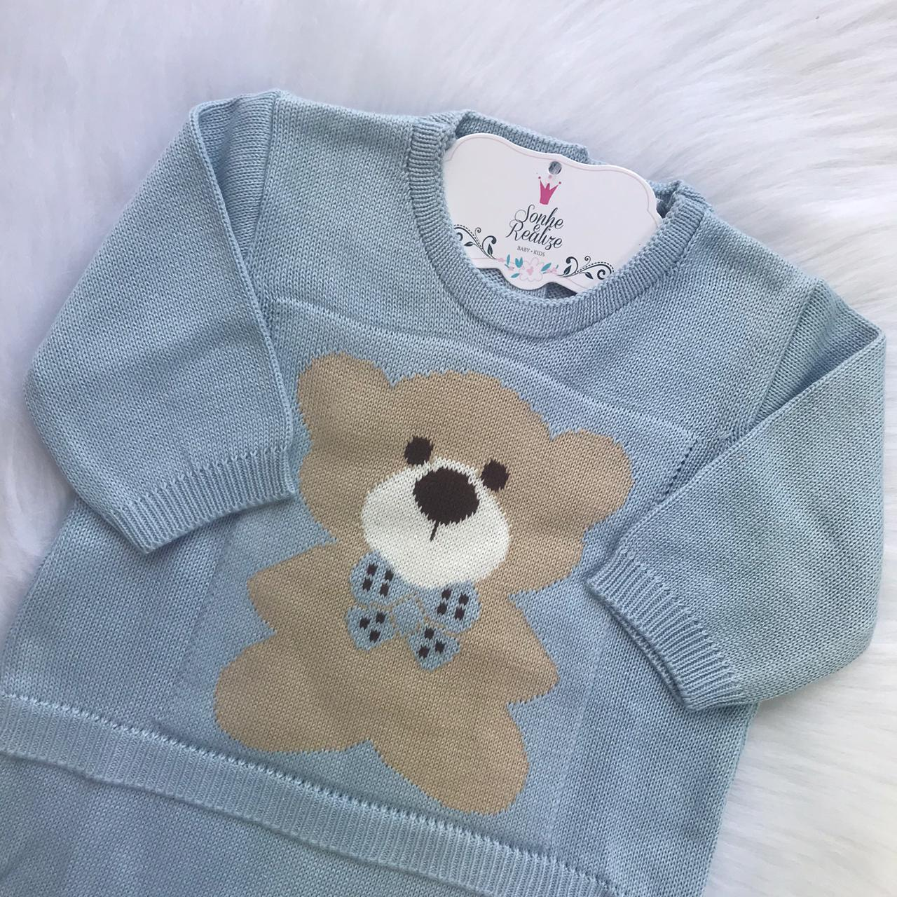 Macacão Urso -  Azul