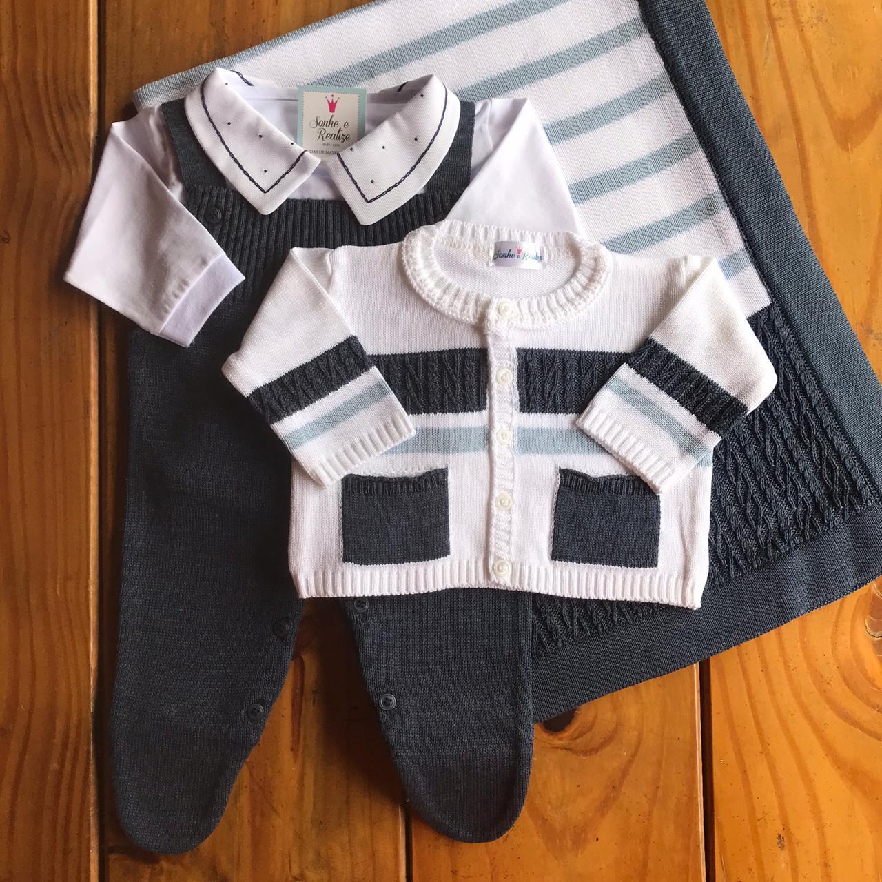 Saída de Maternidade Dior - Azul Jeans
