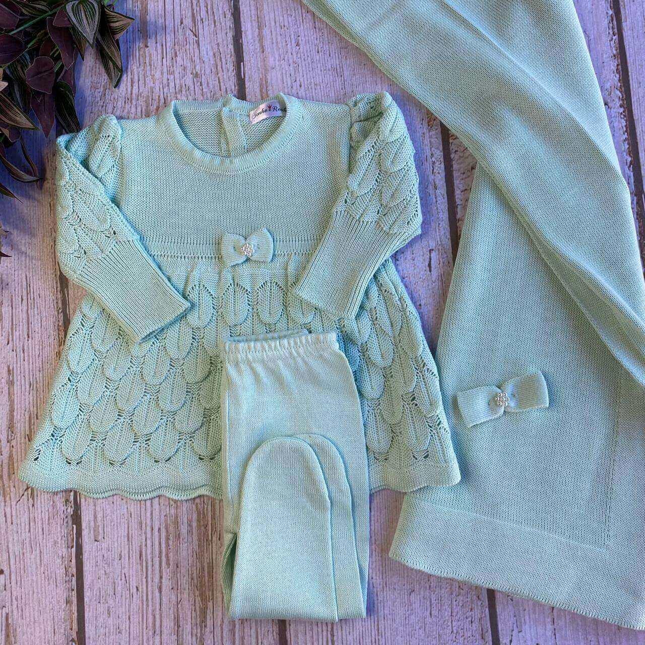 Saída de Maternidade Fadinha - Verde