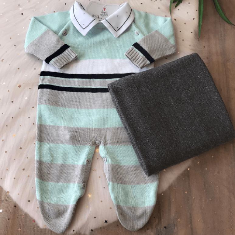 Saída de Maternidade Guto - ( Verde e Chumbo )