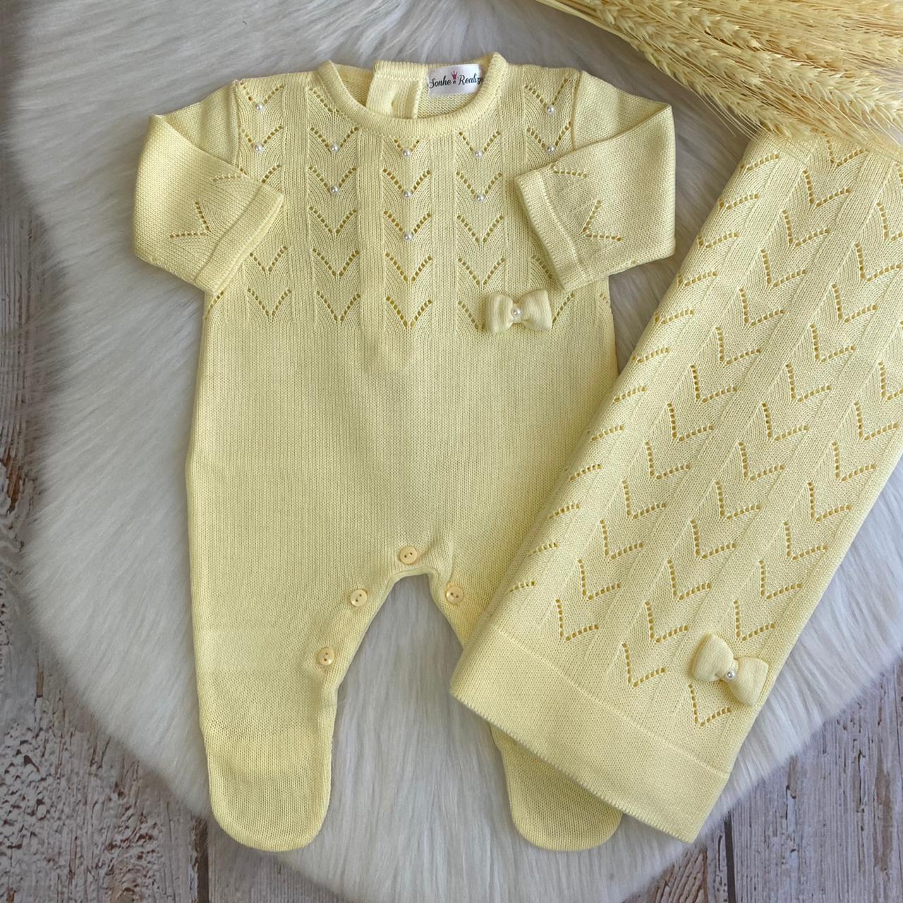 Saída de Maternidade Isabella -  Amarelo
