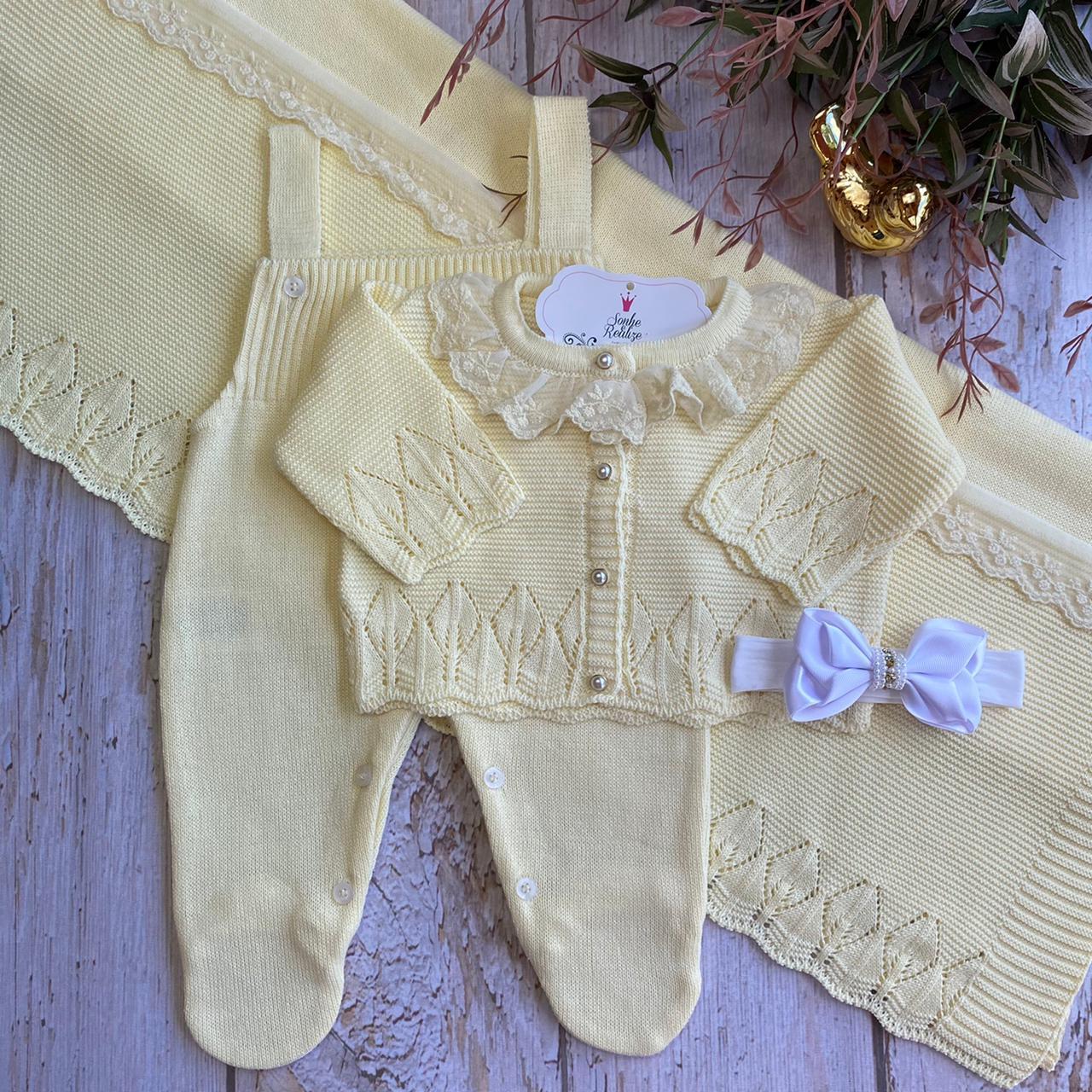 Saída de Maternidade Lindeza - Amarelo  (COLEÇÃO OUTONO 2021)