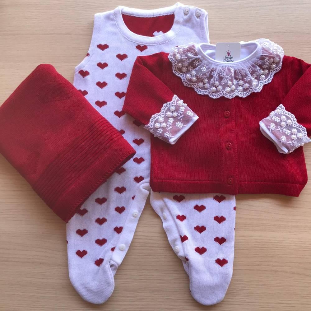 Saída de Maternidade Love - Bordô