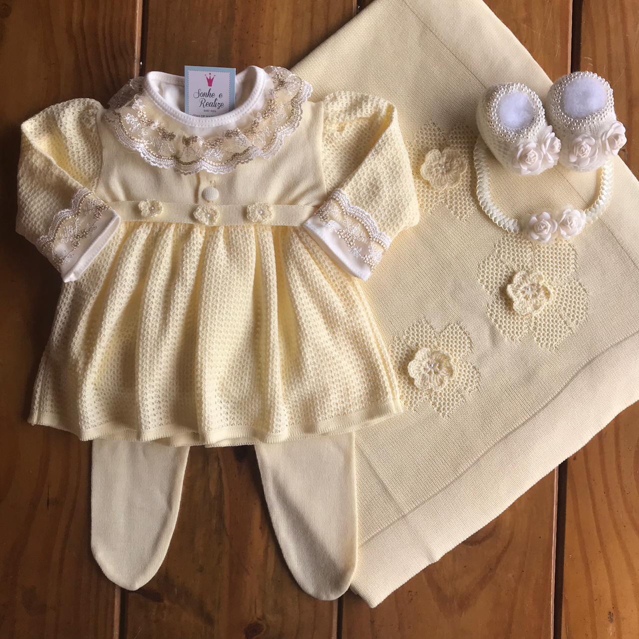 Saída de Maternidade Matilda - Amarelo