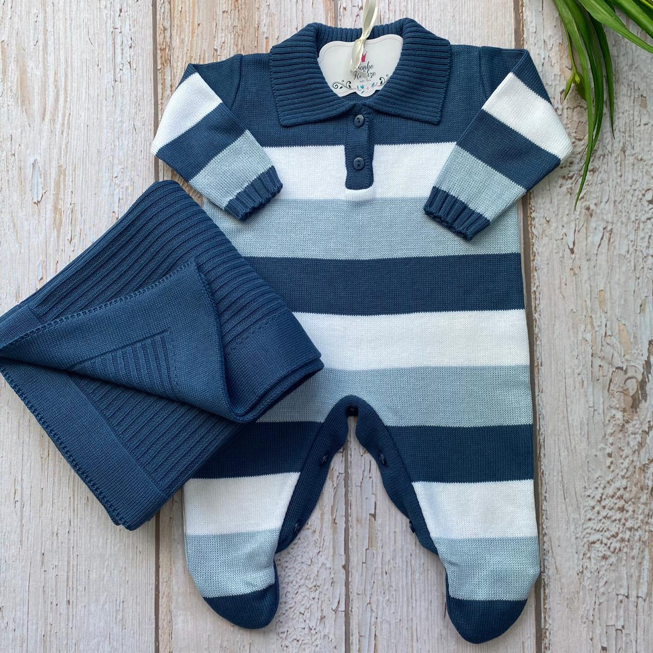 Saída De Maternidade Pierre - Jeans