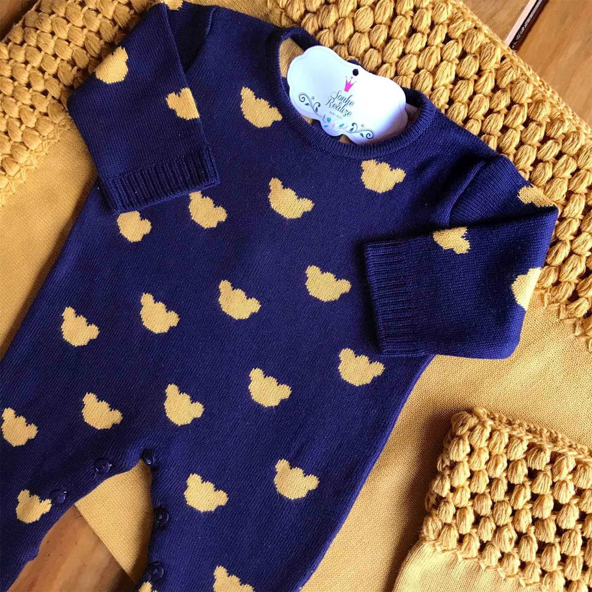 Saída de Maternidade Ursinhos - Pingo de Ouro e Marinho