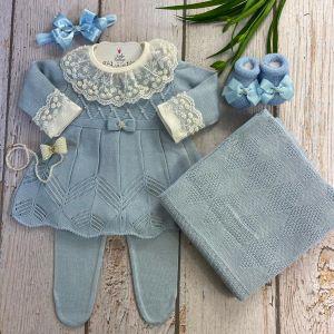 Saída de Maternidade Vestido Julieta - Azul
