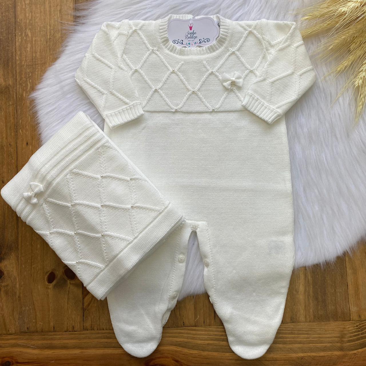 Saída de Maternidade Viêna  - Off White