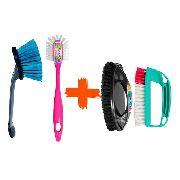 Kit Escovas para Limpeza Automotiva