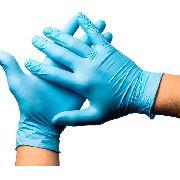 Caixa de Luva Nitrílica Azul (G) - Bompack