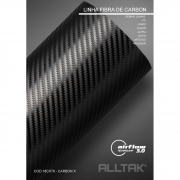 Adesivo Envelopamento Carbon X 0,10x1,38cm - Alltak