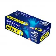 Caixa de Luva Nitrílica (M) Azul 100 unids - Bompack