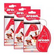 Kit 3 Aromatizante Seco Apple & Cinnamon - Areon