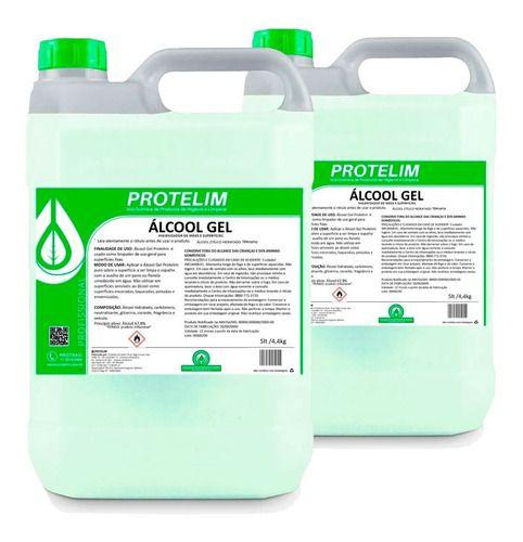 Kit 2 Alcool Em Gel 70% C/ Cheiro Cítrico - Protelim