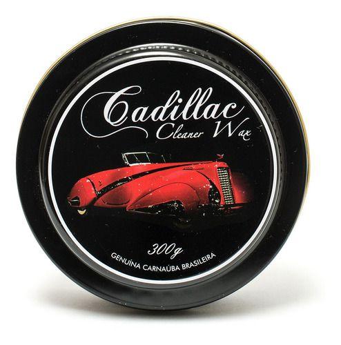 Cera De Carnaúba Cleaner Wax Cadillac 300g e Aplicador de Cera
