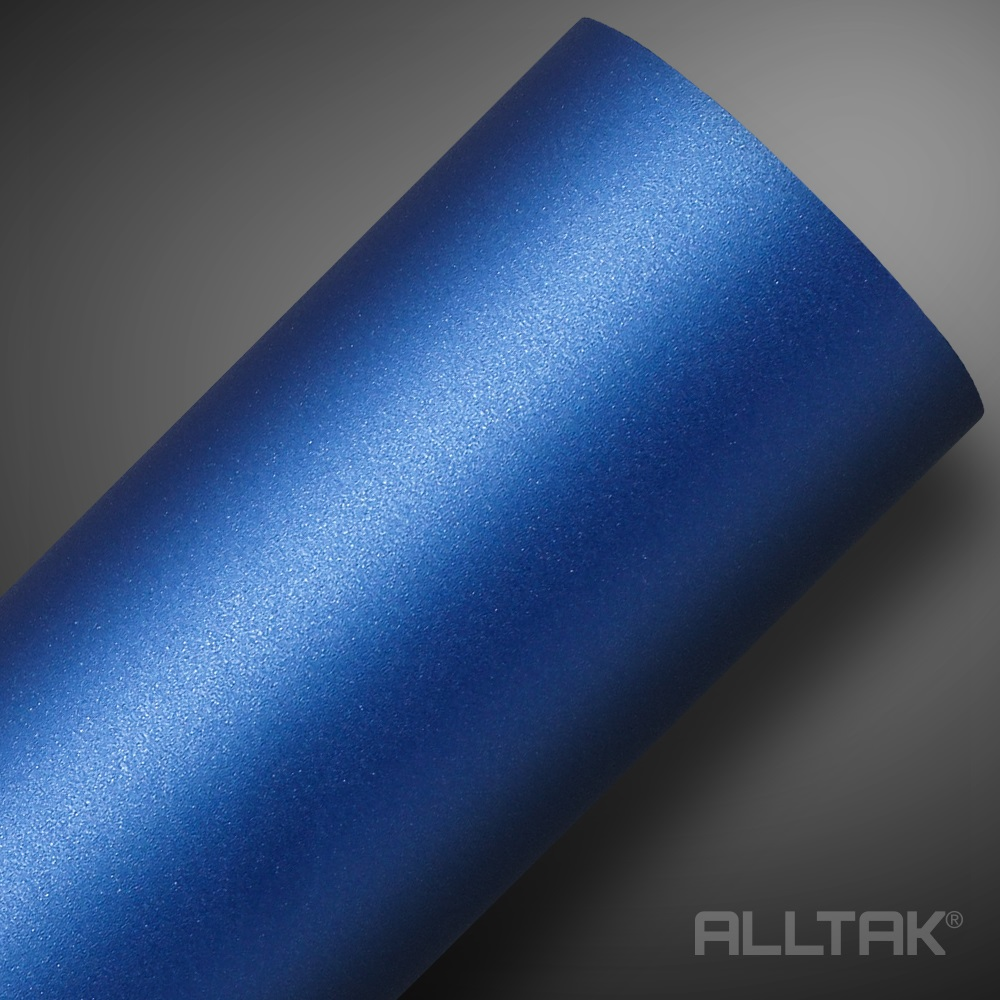 Adesivo Envelopamento Blue Metallic Jateado 0,10x1,38cm - Alltak