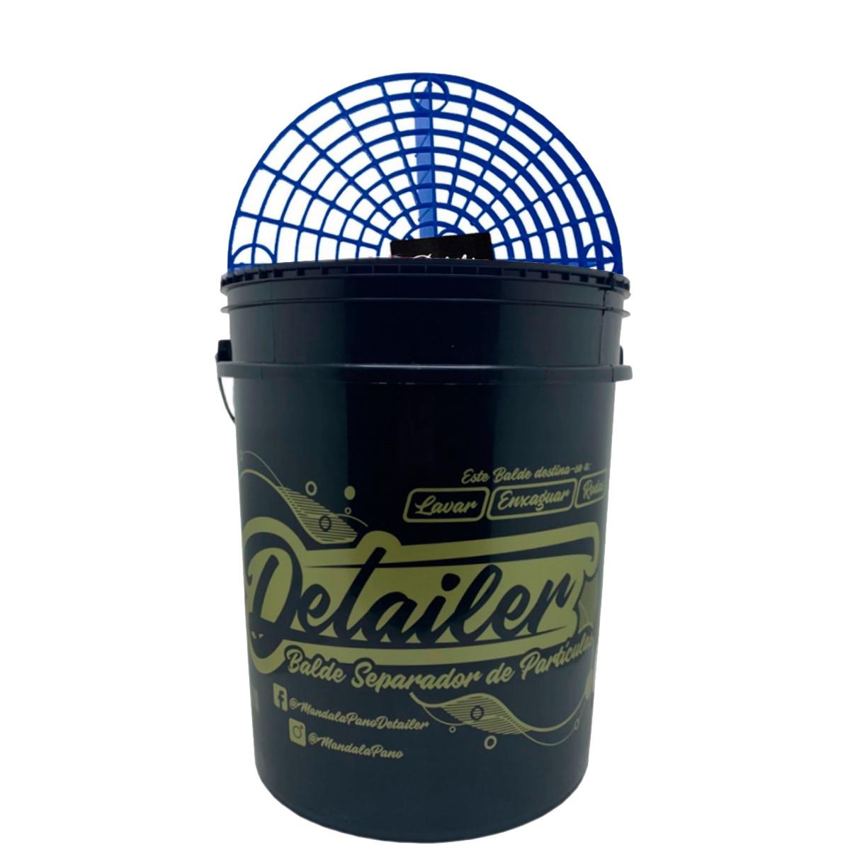 Balde C/Separador de Particulas 19L Preto -Detailer