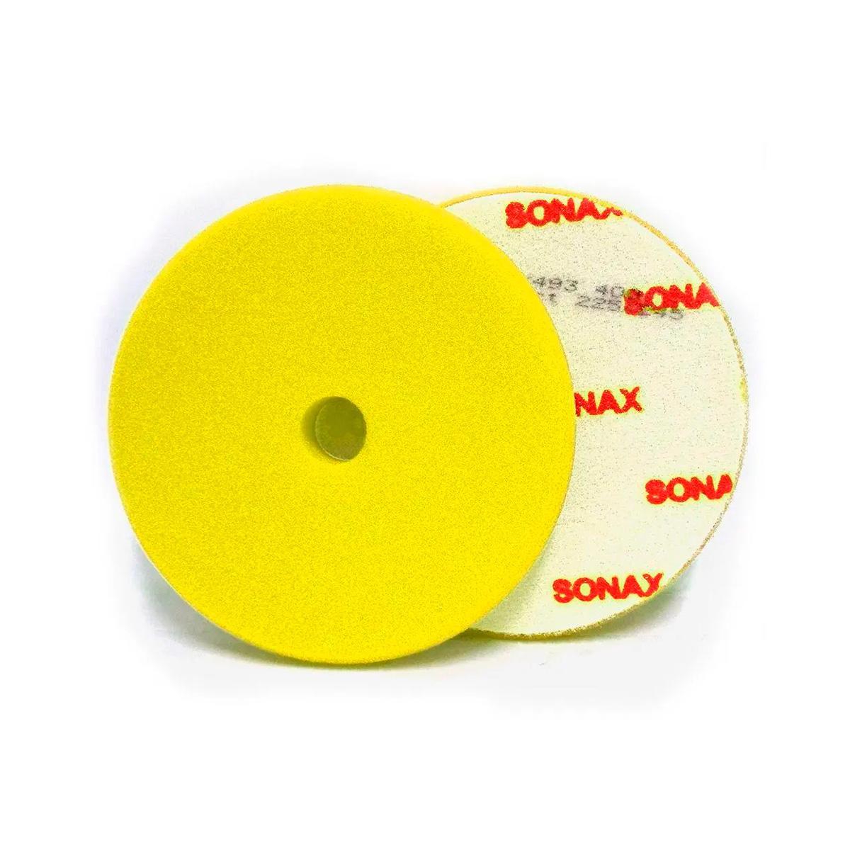 Boina de Espuma Amarela 143mm C/Furo - Sonax
