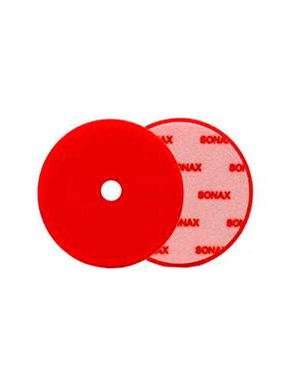 Boina de Espuma Vermelha 143mm C/Furo - Sonax