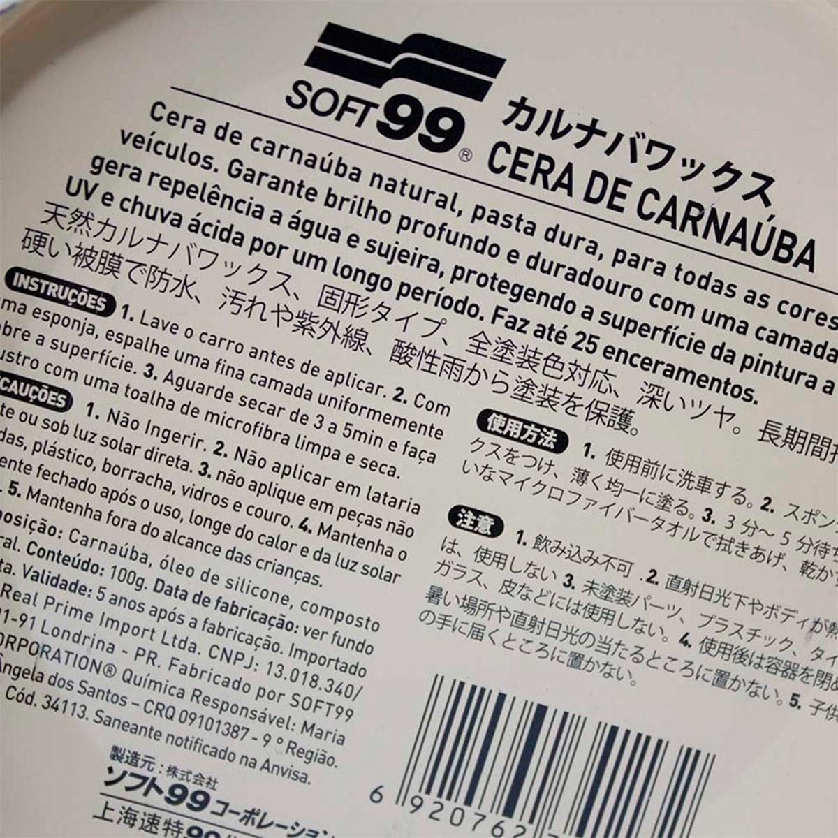 Cera Carnauba All Colors 100g - Soft99