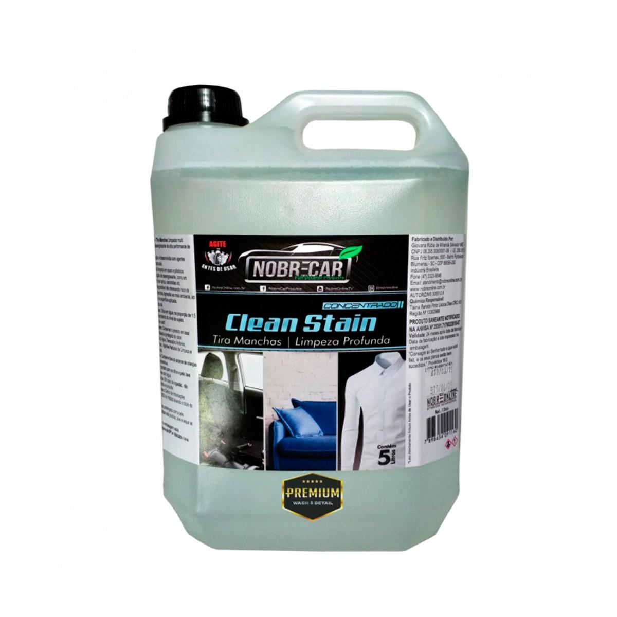 Clean Stain Removedor de Manchas e Limpeza Profunda para Tecidos - Nobrecar