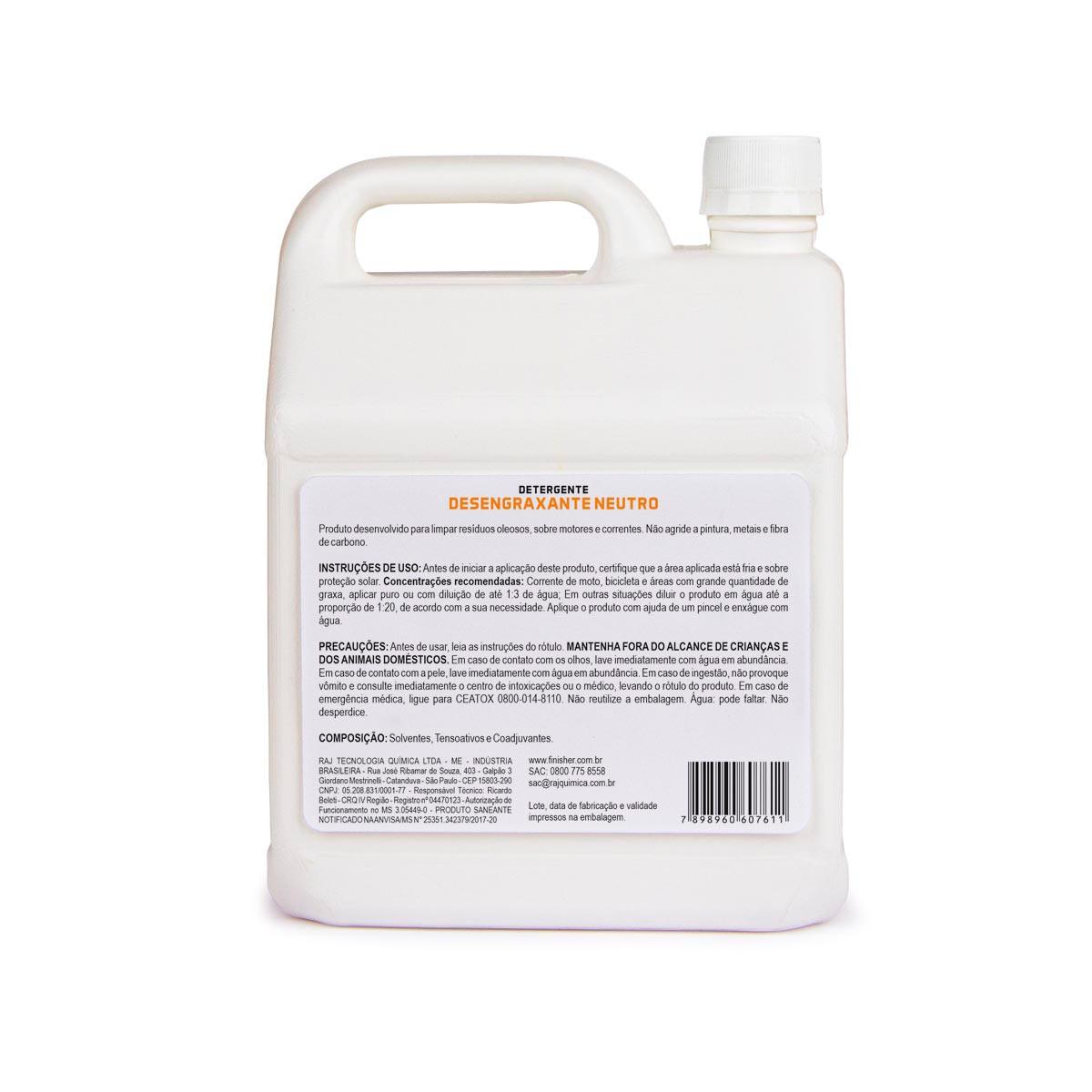 Detergente Desengraxante Neutro 2,5L - Finisher