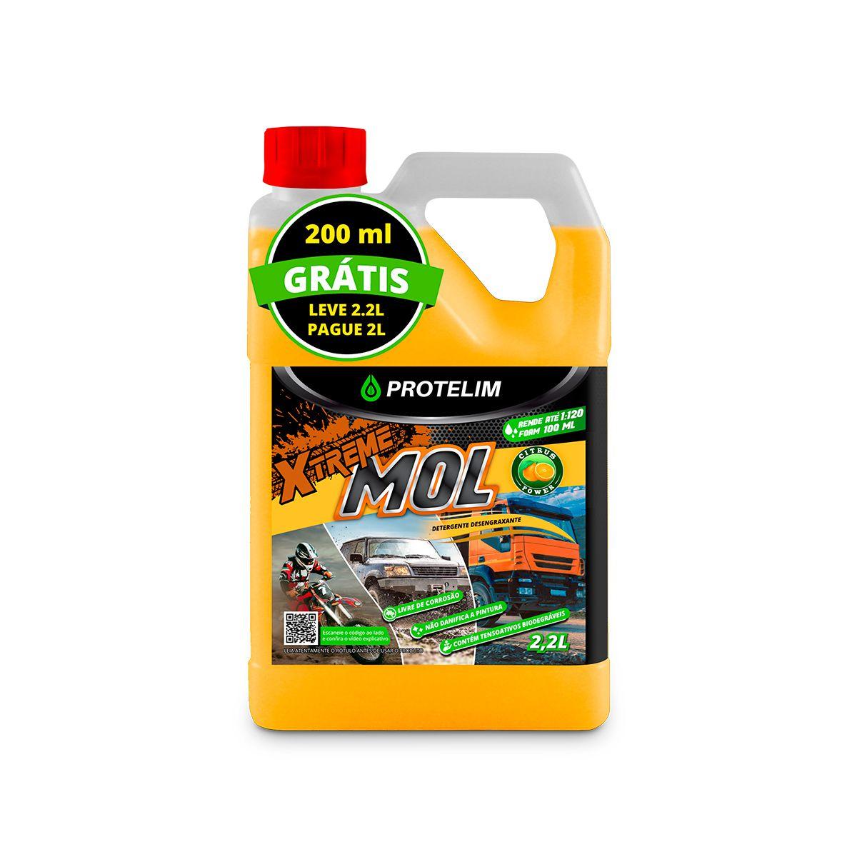 Detergente Desengraxante Xtreme Mol 2.2L - Protelim