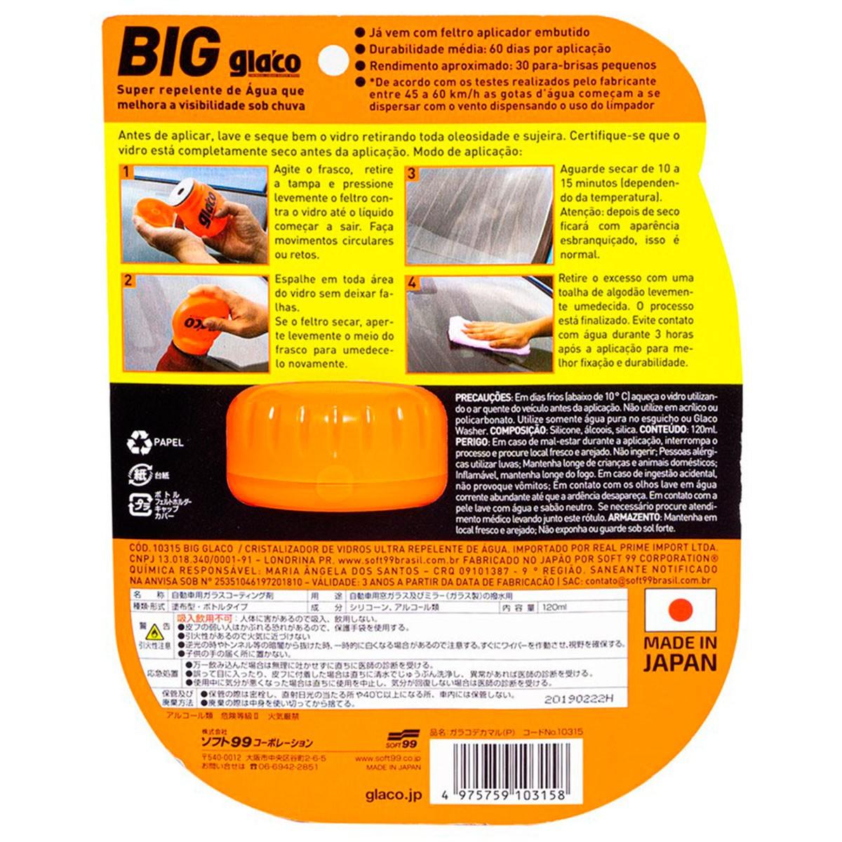 Glaco Big 120ml - Soft99