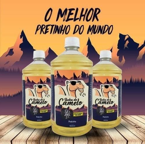 Kit 2 Pretinho Baba De Camelo 1l Para Pneu + Esponja Brinde