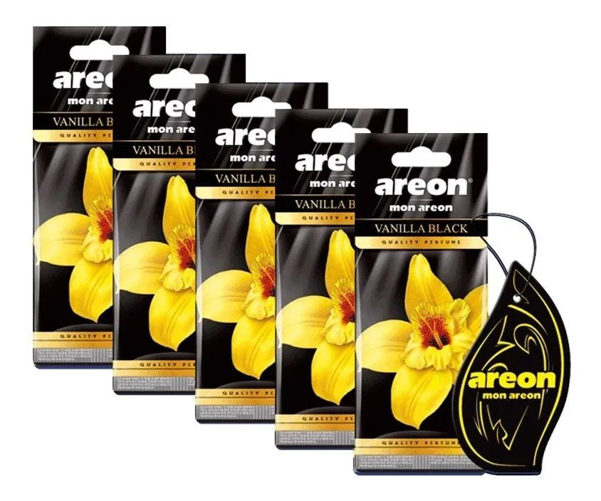 Kit 5 Aromatizante Seco Vanilla Black - Areon