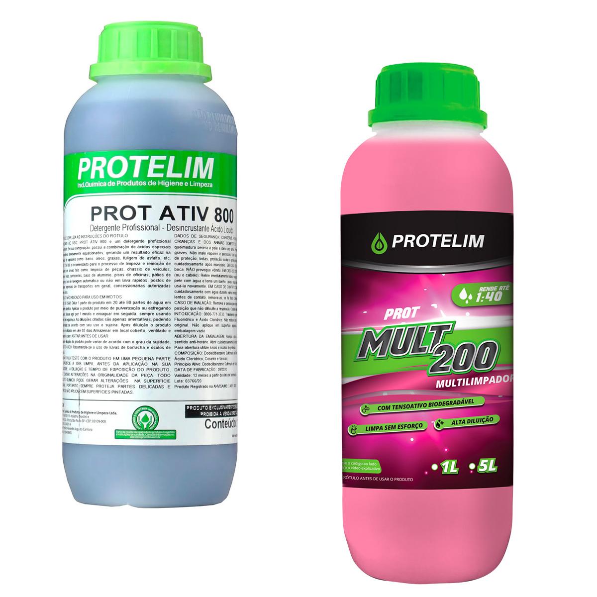 Kit Casadinha Perfeita ( Prot Ativ 800 1 Litro + Pro Mult 200 1 Litro ) - Protelim