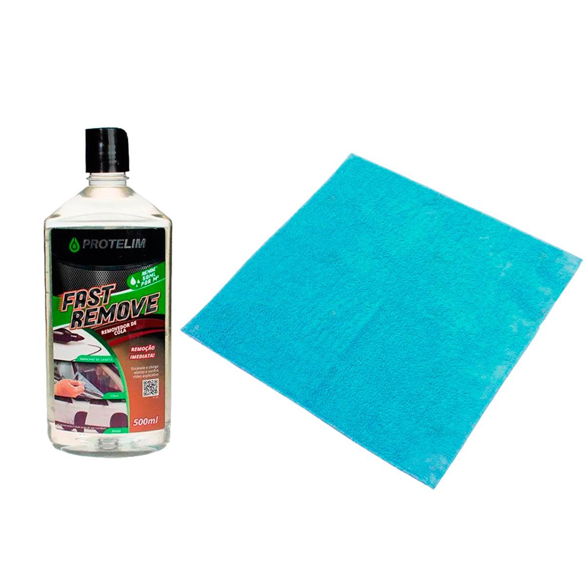 Kit Fast Remove 500ml Protelim + Flanela Microfibra Mandala