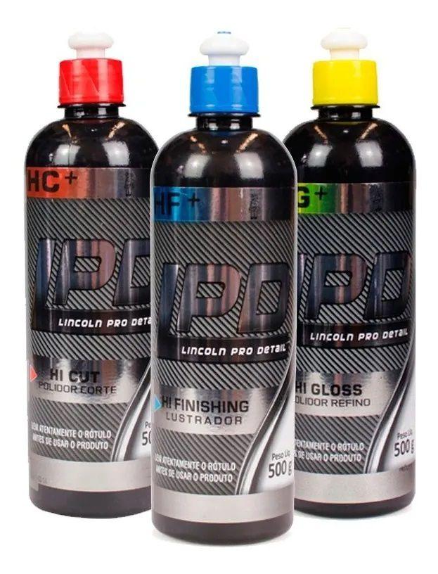 Kit Para Polimento Lincoln Corte Refino Lustro Lpd Completo