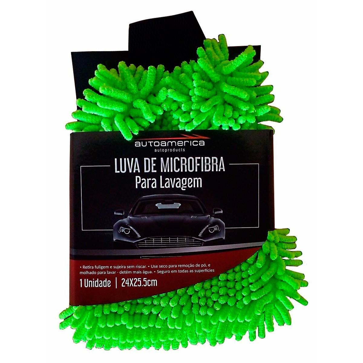 Luva de Lavagem Micro Fibra para Lavagem - Autoamerica