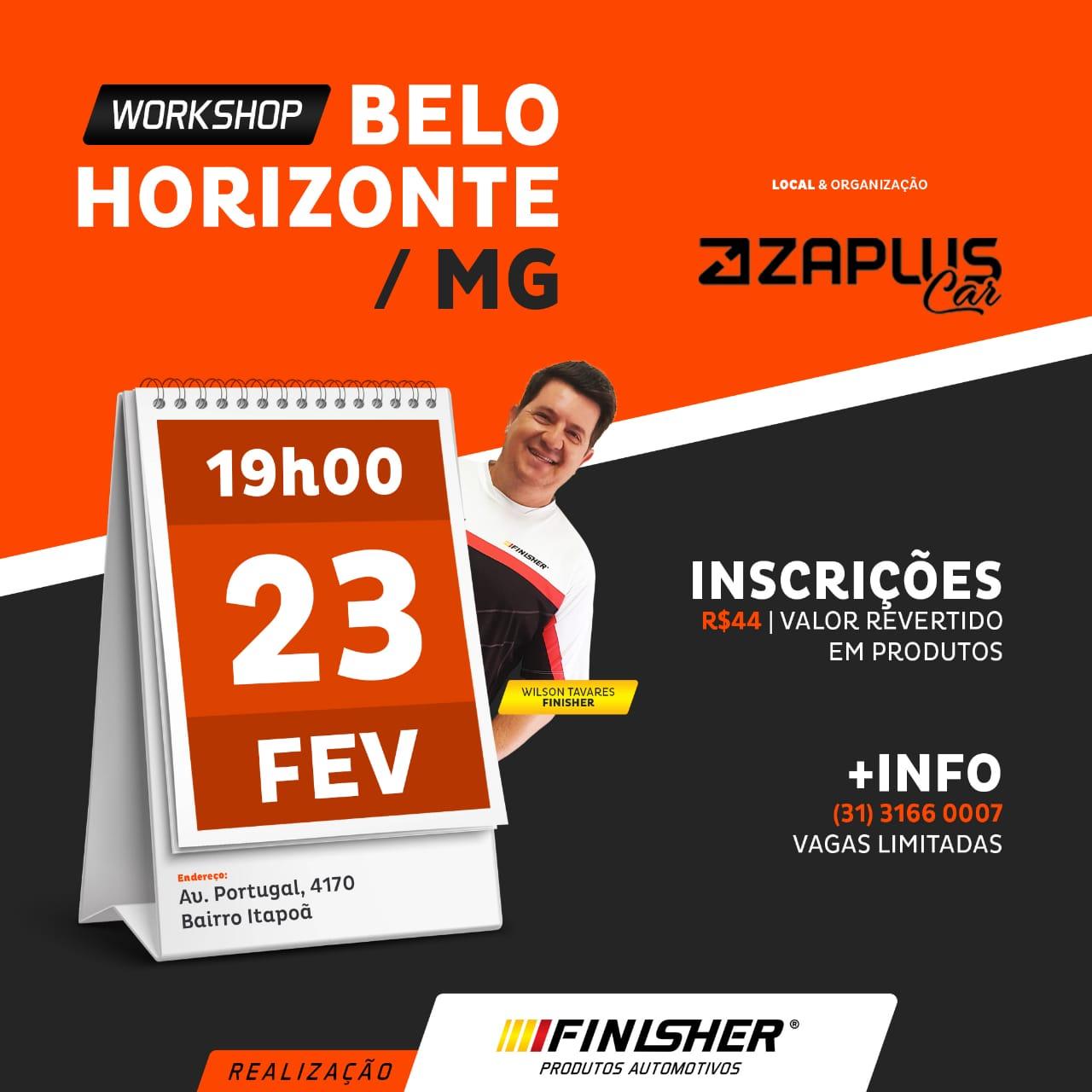 Workshop (Saíba tudo da marca Finisher) - Dia 23/02/2020 às 19h