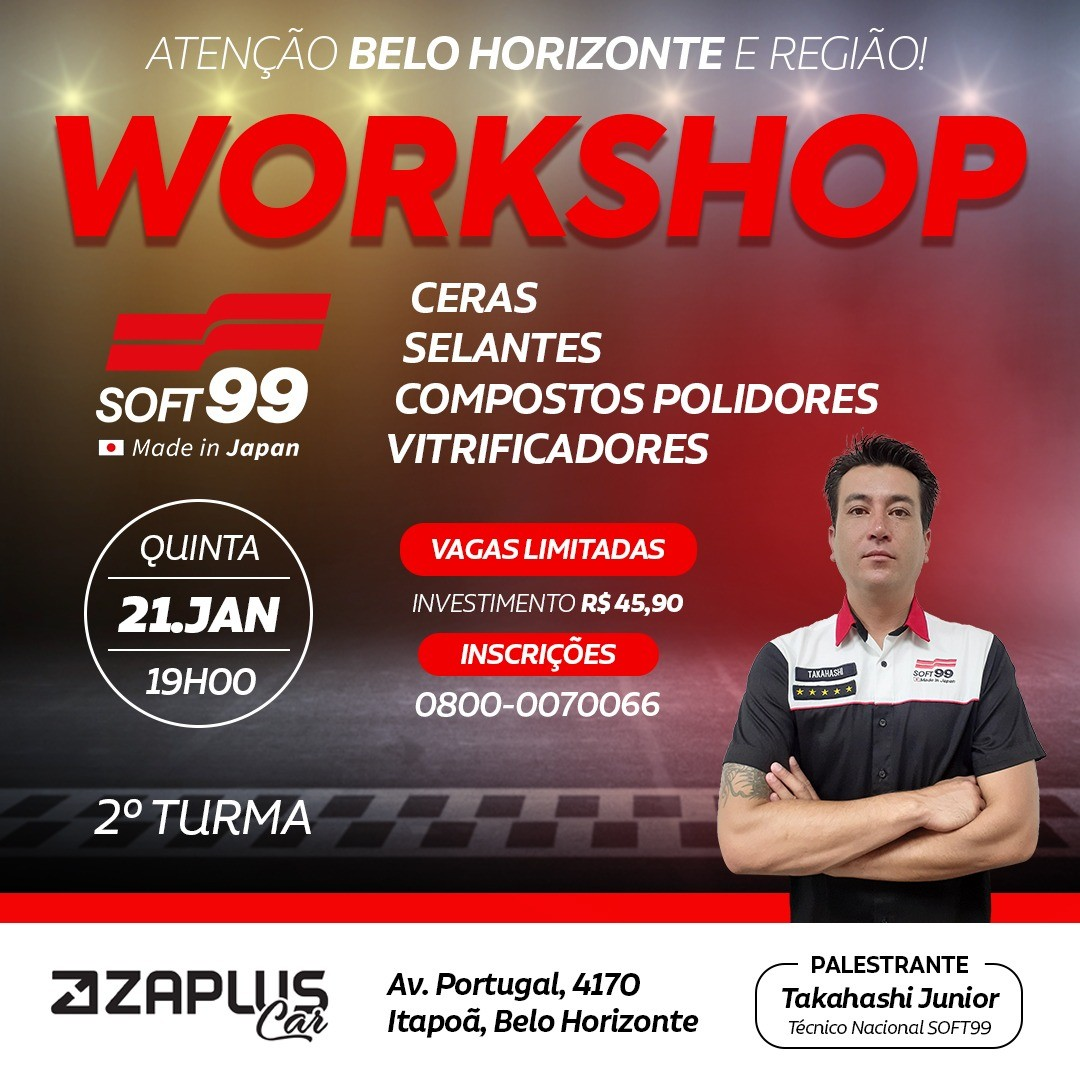 Workshop Soft99 - DIA 21/01/2021