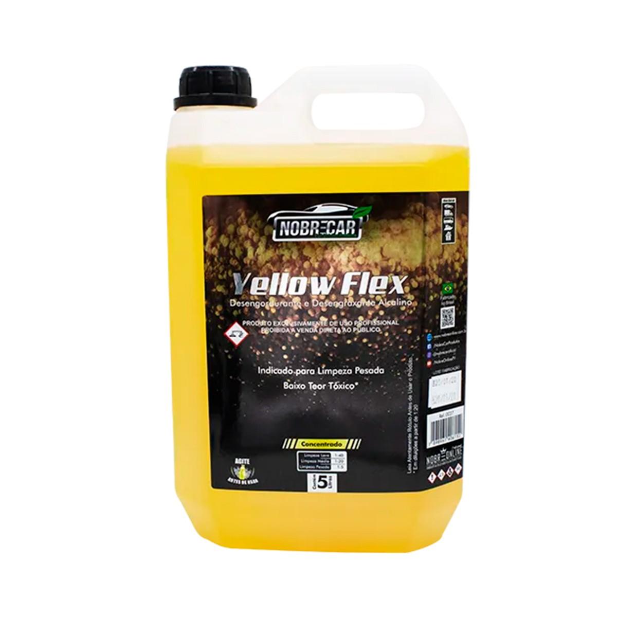 Yellow Flex - Desengordurante e Desengraxante Alcalino 5L - Nobrecar