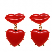 BRINCO LIPS BOCA RED GOLD