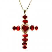 COLAR CRUCIFIXO CATHERINE CHERRY GLAM