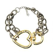PULSEIRA CORRENTARIA LOVE SILVER/GOLD
