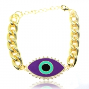 PULSEIRA OLHO GREGO CHAIN GRAPE MAYA