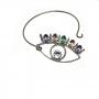Bracelete Olho Grego Pedraria - Rhay Grafite
