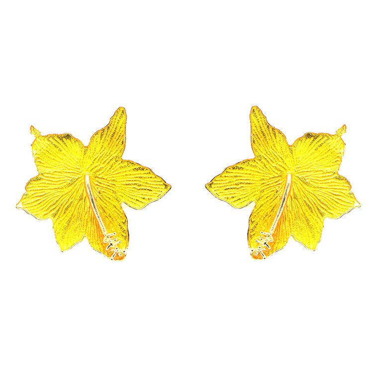 BRINCO HIBISCO YELLOW GOLD