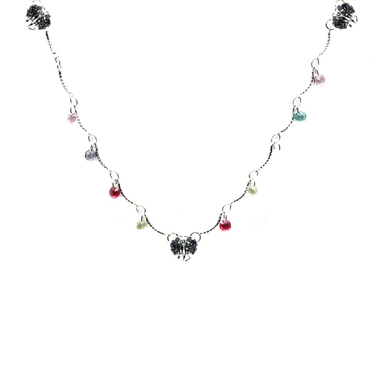 CHOKER CRISTAIS COLORS GLOW CRYSTAL SILVER