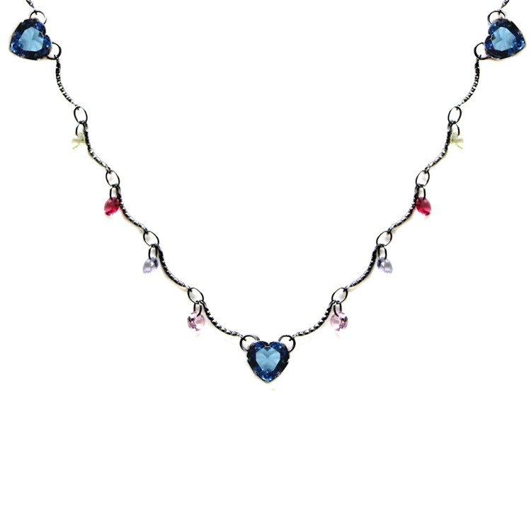 CHOKER CRISTAIS COLORS GLOW SKY GRAFIT