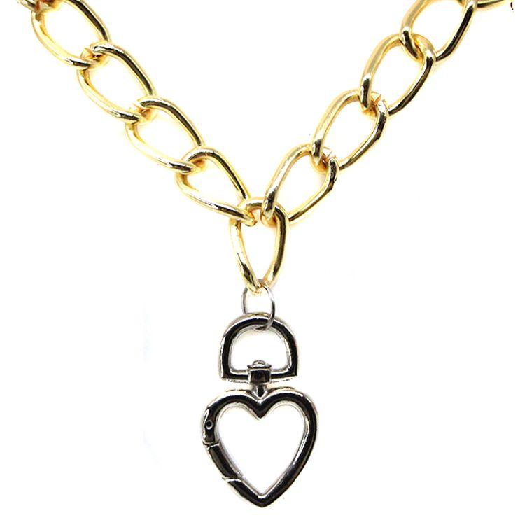 COLAR CORRENTARIA LOVE GOLD/SILVER